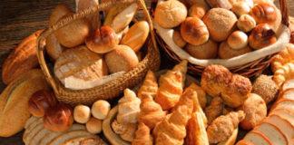 Variedad de la industria de la panaderia, bollería y pastelería