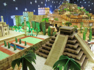Belen de chocolate de Rute - Pirámide Azteca