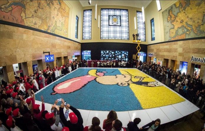Record Guinness mosaico de pasteles