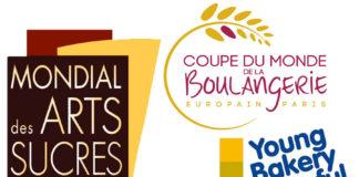 Trio de copas de panadería y pastelería en Paris