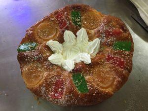 Curso de pastelería de Navidad. Roscón de reyes