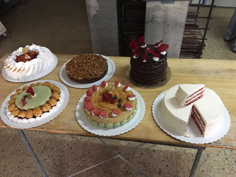 Curso de tartas con Joaquín Roldán. Muestra de tartas realizadas