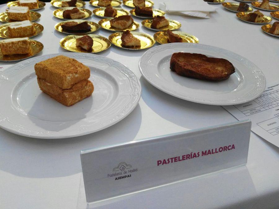 Concurso de las mejores torrijas de Madrid 2017 - Pastelería Mallorca
