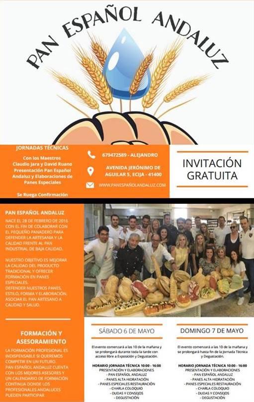 Díptico Jornadas técnicas Grupo Pan Español andaluz