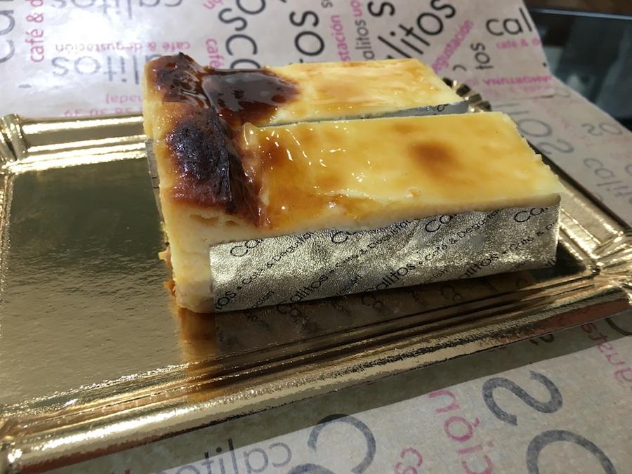 Tarta de queso de Calitos café y degustación