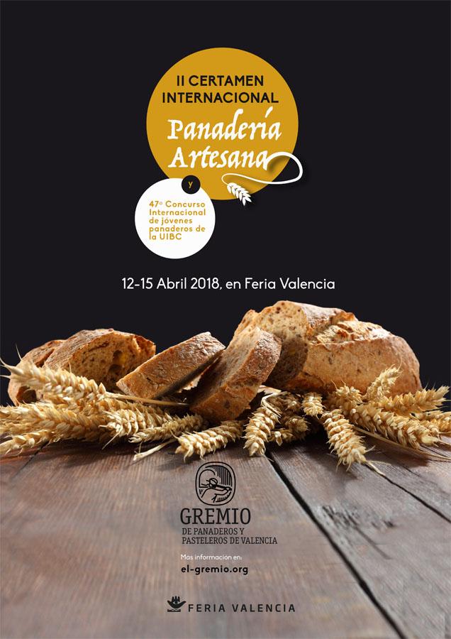 Cartel oficial del II Certamen internacional de panadería artesana en Valencia