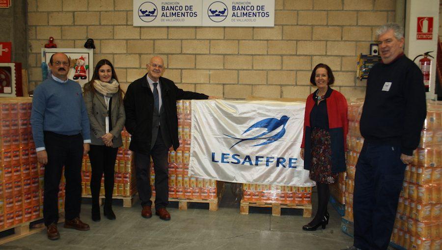 Lesaffre Ibérica dona 5 toneladas de azúcar al Banco de Alimentos de Valladolid.