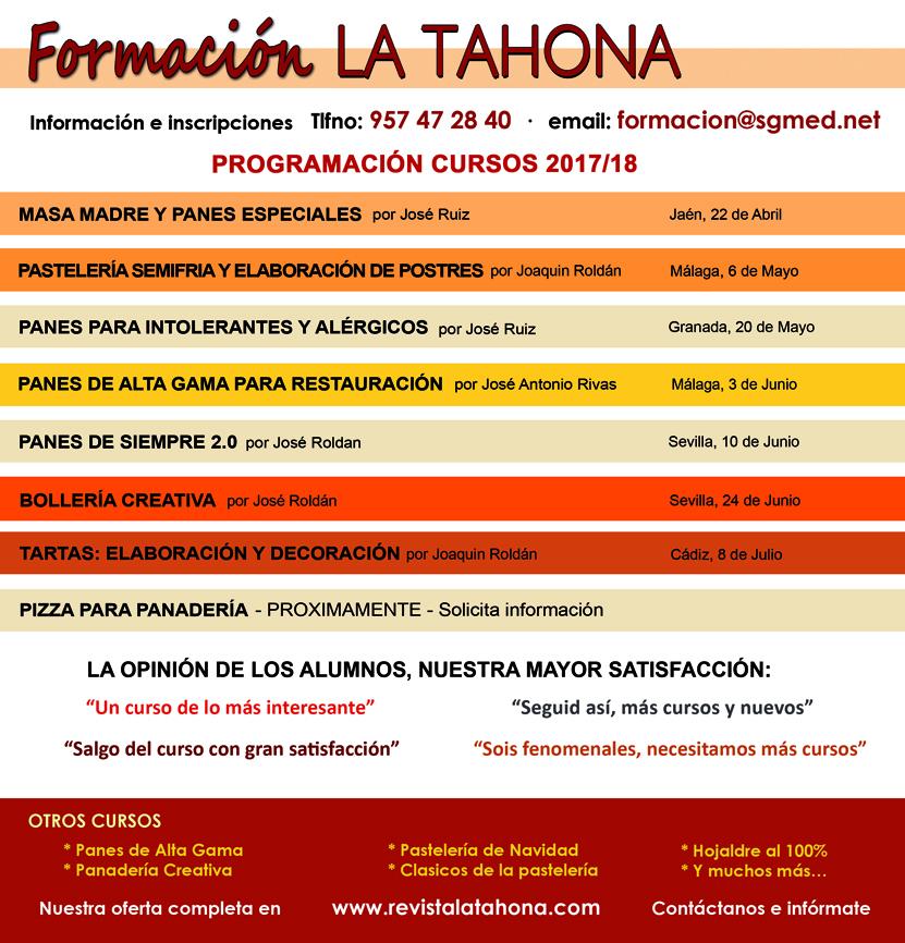 Cursos Formación La Tahona 2018