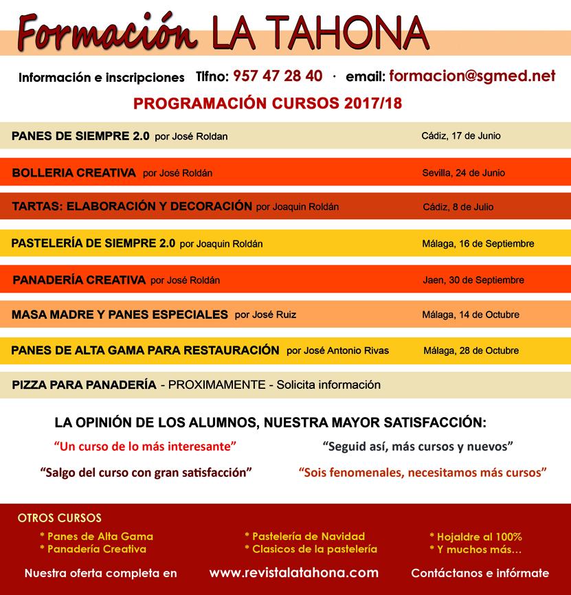 Cursos Formación La Tahona 2018 (junio -octubre)