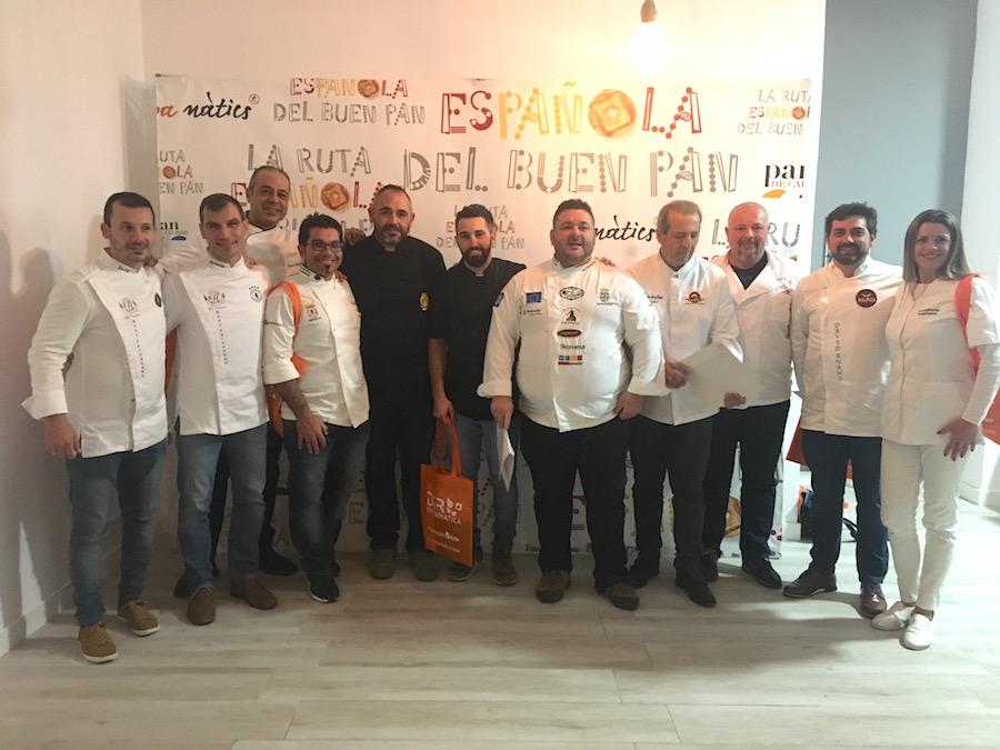 La selección andaluza de la Ruta Española del buen pan 2018