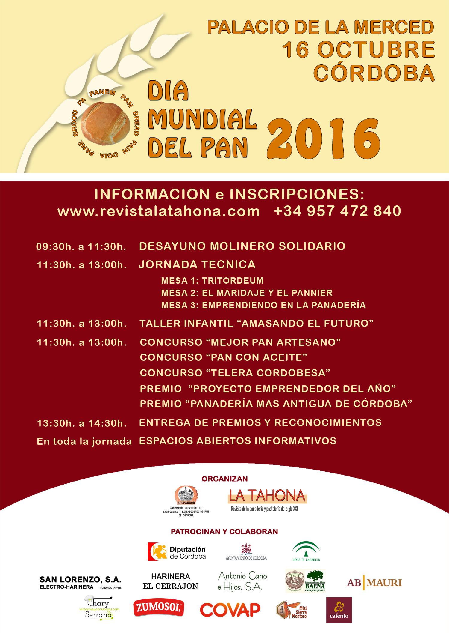 Cartel Día Mundial del Pan - 16 de octubre en Córdoba
