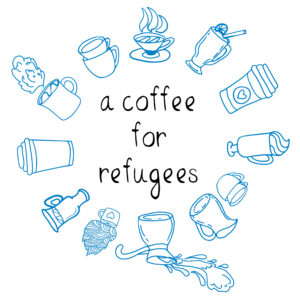 Logo a coffee for refugees