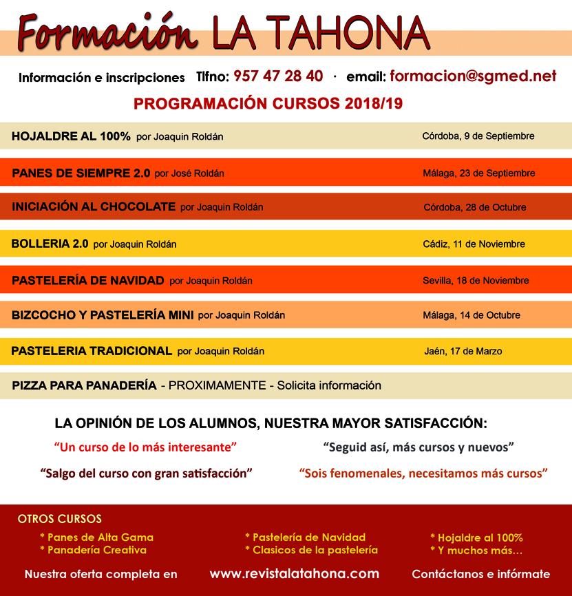 Formación Tahona septiembre - diciembre 2018