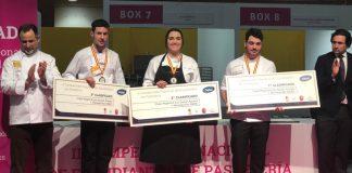 Ganadores del II Campeonato nacional de estudiantes de pastelería